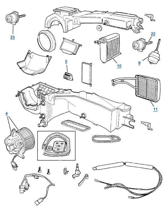 jeep xj cherokee air conditioning parts best reviews \u0026 prices at 4wp Lincoln Town Car Parts Diagram jeep xj cherokee air conditioning parts