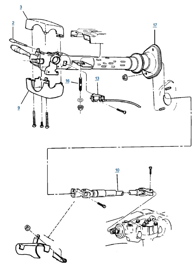 Jeep Zj Grand Cherokee Steering Column Parts