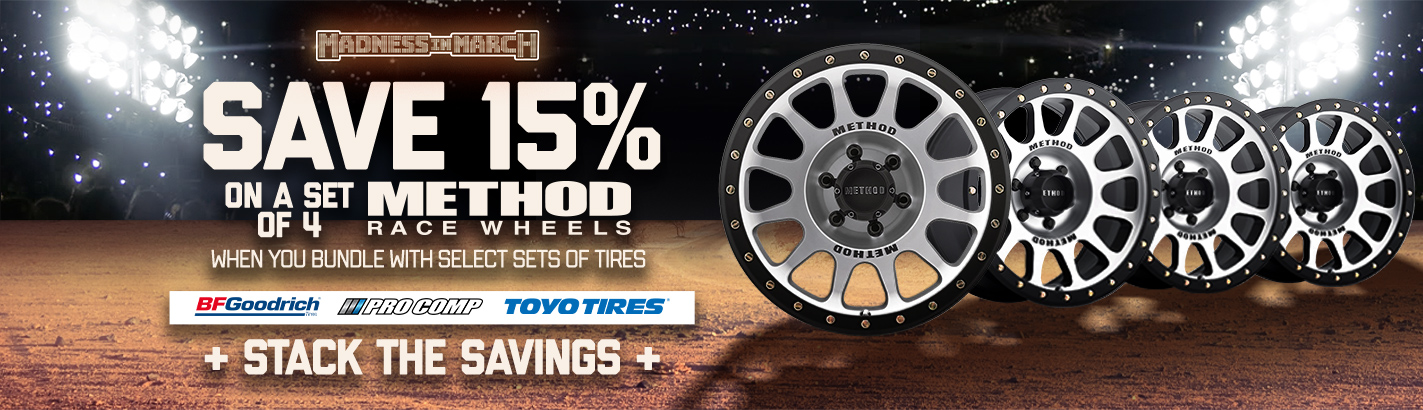 Save 15% On A Set of 4 Method Race Wheels