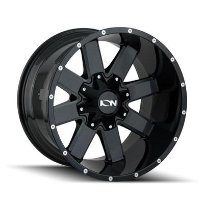 Ion 141 Series Gloss Black Milled Wheels