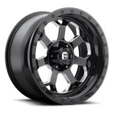 MHT Fuel Offroad Savage D563 Gloss Black w/ Milled Through Windows Wheels