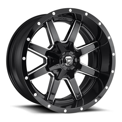 MHT Fuel Offroad Maverick D610 Black Milled Wheels