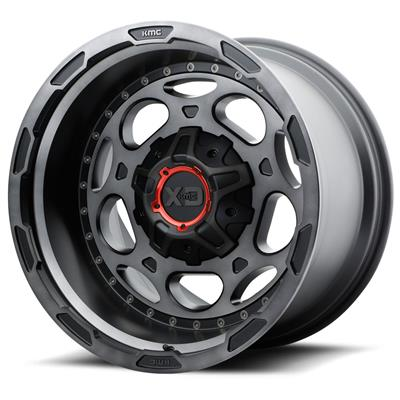KMC XD Series XD837 Demodog Wheels - Satin Black with Gray Tinted Clear Coat