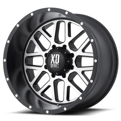 KMC XD Series XD820 Grenade Satin Black W/ Machined Face Wheels