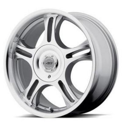 American Racing AR95T, 16x7 Wheel with 5 on 4.5 and 5 and 130 Bolt Pattern - Silver - AR95T67033