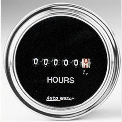 Image of Auto Meter Traditional Chrome Electric Hour meter Gauge - 2587