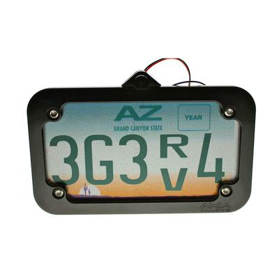Axia Alloys Tube Mounted LED License Plate Frame - Black Anodized - MODLP-BK