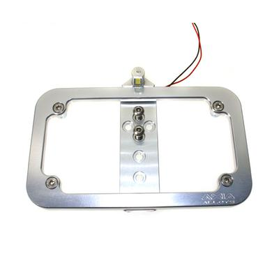 Axia Alloys Tube Mounted LED License Plate Frame - Clear Anodized - MODLP-C