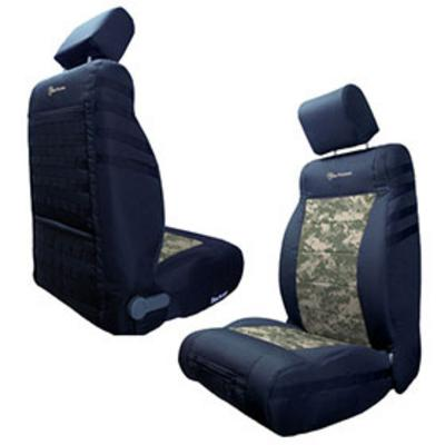 Image of Bartact Front Seat Cover (Black/ACU Camo) - TJSC9702FPBA