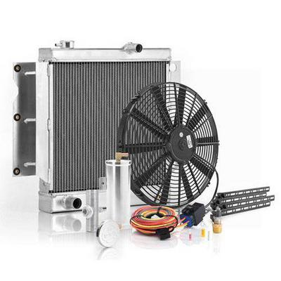 Image of Be Cool Replacement Aluminum Radiator Module for AMC 4 or 6 Cylinder Engine with Automatic Transmission - 22242