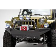 Body Armor Front Winch Bumper with Grill Guard (Black) - JK-19531