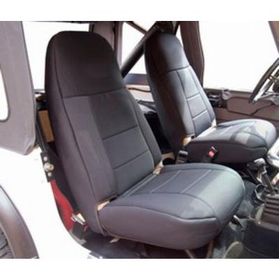 Image of Coverking 50/50 High Back Neoprene Front Seat Covers (Black) - SPC246