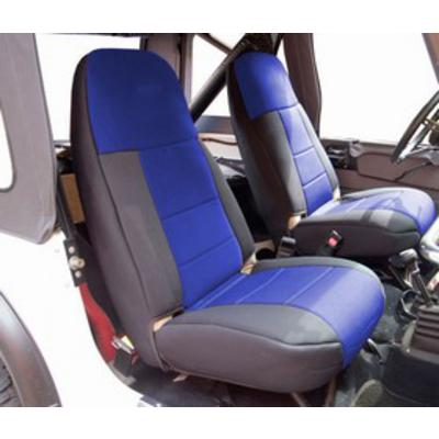 Image of Coverking 50/50 High Back Neoprene Front Seat Covers (Black/Blue) - SPC249
