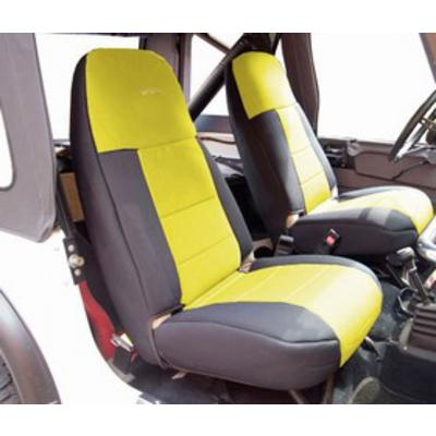 Image of Coverking 50/50 High Back Neoprene Front Seat Covers (Black/Yellow) - SPC250