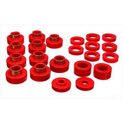 Energy Suspension Body Mount Bushings (Red) - 2.4102R