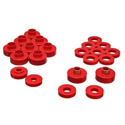 Energy Suspension Body Cab Mount Set (Red) - 2.4103R