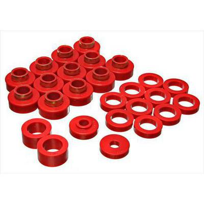 Energy Suspension Body Cab Mount Set (Red) - 2.4104R