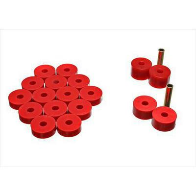 Energy Suspension Body Cab Mount Set (Red) - 2.4106R
