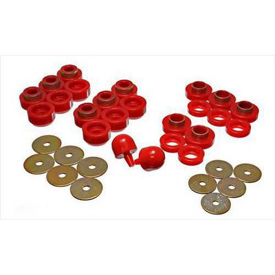 Energy Suspension Body Mount Set (Red) - 2.4107R