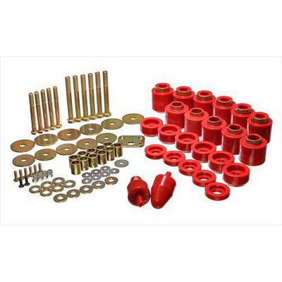 Energy Suspension Body Mount Set (Red) - 2.4108R