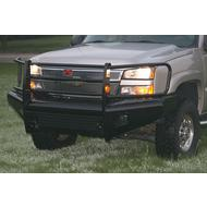 Fab Fours Full Grill Guard Front Ranch Bumper with Tow Hooks (Black) - CH05-S1360-1