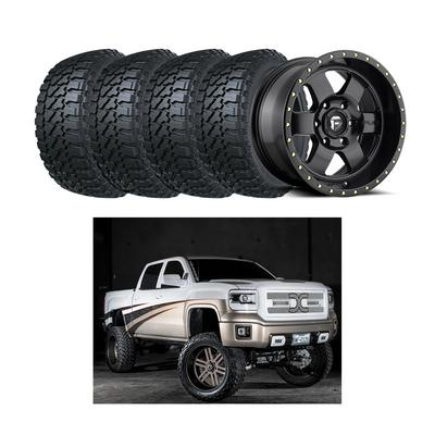 "Image of Genuine Packages Bulletproof 10-12"" Option 1 Lift Kit with Fuel Podium D618 Wheels and Fury Off-Road Country Hunter M/T Tires -"