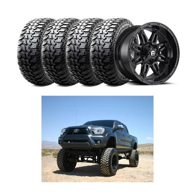 Image of Genuine Packages Bulletproof 10-12'' Option 1 Lift Kit with MHT Fuel Offroad Hostage D625 Wheels and Radar Tires Renegade R7 Tires - TACOMAPKG3