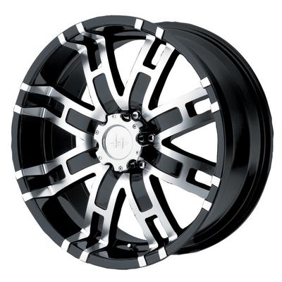 Helo HE835 , 20x9 Wheel with 6 on 5.5 Bolt Pattern - Black Machined- HE83529068318