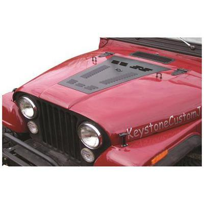 Hyline Offroad Louvered Hood Panel - 100.500.100