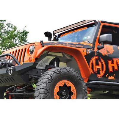 Image of Hyline Offroad JK Inner Fender Liners in Bare Aluminum - 400.300.140