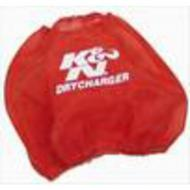 K&N DryCharger Round Tapered Filter Wrap (Red) - RF-1048DR
