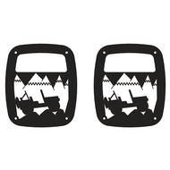 Kentrol Heritage Tail Light Guards - 80709
