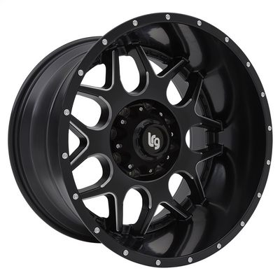Lrg Rims LRG104, 20x12 Wheel with 8 on 6.5 Bolt Pattern - Black and Milled - 10421282944N