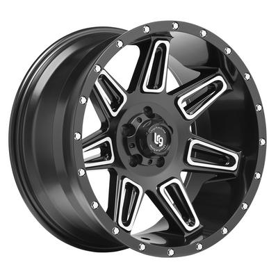 Image of Burst Series 117, 20x10 Wheel Size with 5x5 Bolt Pattern - Satin Black Machined - 11722083324N