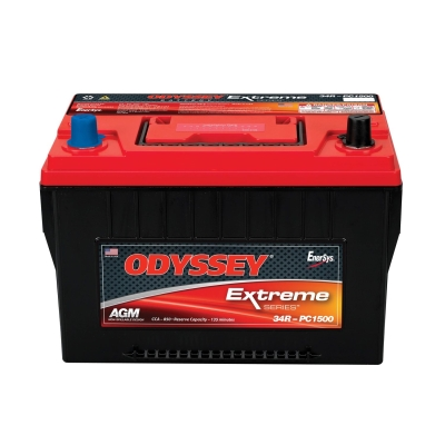 Odyssey Batteries Extreme Series, Group 34R, 880 CCA, Top Post - 34R-PC1500T