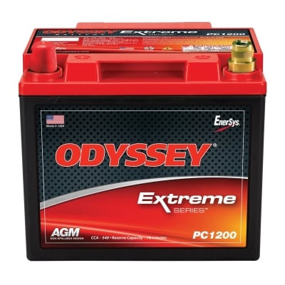Odyssey Batteries Extreme Series, Universal, 540 CCA, Top Post - PC1200LT
