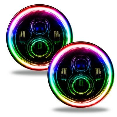 """Image of Oracle Lighting 7"""" High Powered LED Headlights (ColorSHIFT 2.0) - 5769-333"""