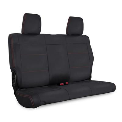 PRP Vinyl Rear Bench Seat Cover (Black with Red Stitching) - B024-01