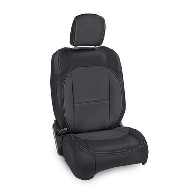 PRP Vinyl Front Seat Covers (Black and Gray) - B037-03