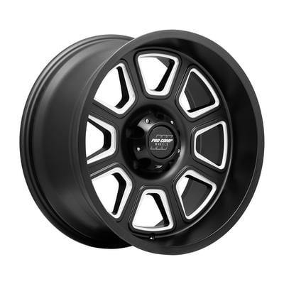 Image of Pro Comp 64 Series Gunner, 17x9 with 5x5 Bolt Pattern - Satin Black Milled- 5164-7973