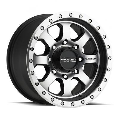 Image of Raceline Wheels Avenger, 17x9 with 5x5.5 Bolt Pattern - Black and Machined - 929M-79055-12