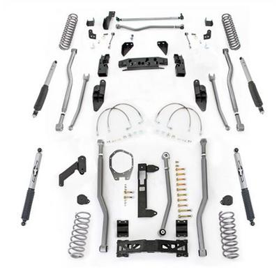 Rubicon Express 4.5 Inch Extreme Duty 4-Link Front/Rear 3-Link Long Arm Lift Kit with Mono-Tube Shocks - JK4344M