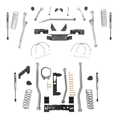 Rubicon Express 3.5 Inch Extreme Duty Radius, Front/Rear 3-Link Long Arm Lift Kit with Fox Performance Shocks - JKR343FP