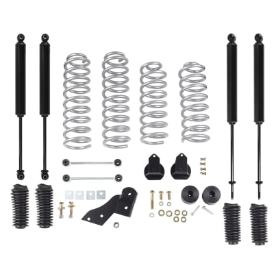 Rubicon Express 2.5 Inch Standard Coil Lift Kit with Twin Tube Shocks - RE7121T