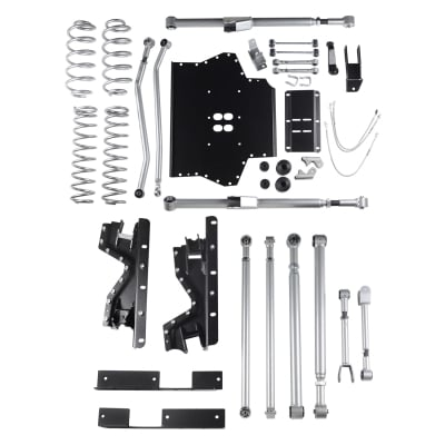 Rubicon Express 4.5 Inch Extreme-Duty Long Arm Lift Kit with Rear Track Bar - No Shocks - RE7214