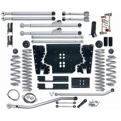 Rubicon Express 4.5 Inch Extreme-Duty Long Arm Lift Kit with Rear Track Bar - No Shocks - RE7224