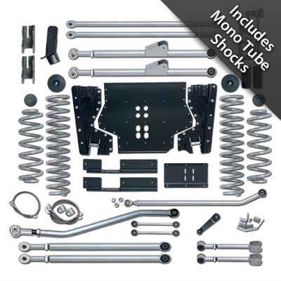Rubicon Express 4.5 Inch Extreme-Duty Long Arm Lift Kit with Rear Track Bar with Mono Tube Shocks - RE7224M