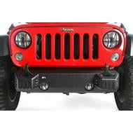 Rugged Ridge XHD Front Bumper Base with Tow Point Covers (Black) - 11540.28