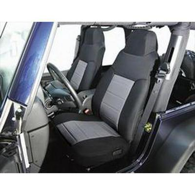 Rugged Ridge Fabric Front Seat Covers (Black/Gray) - 13240.09