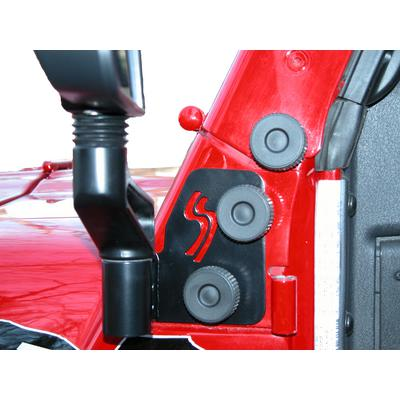 Skid Row Off Road Mirror Relocation Brackets (Black) - JP-0014